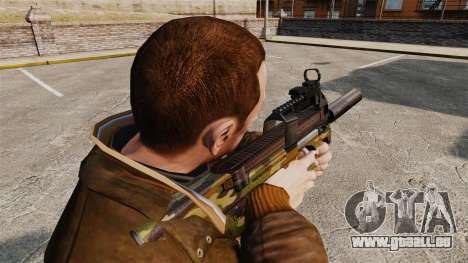 Belgische FN P90 Maschinenpistole v5 für GTA 4 Sekunden Bildschirm