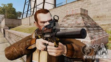 V6 de mitraillette belge FN P90 pour GTA 4 troisième écran