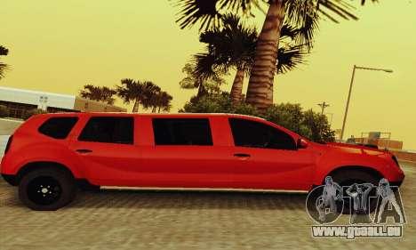 Dacia Duster Limo pour GTA San Andreas sur la vue arrière gauche