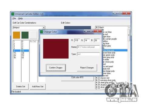 Machines de couleurs éditeur universel pour GTA San Andreas deuxième écran