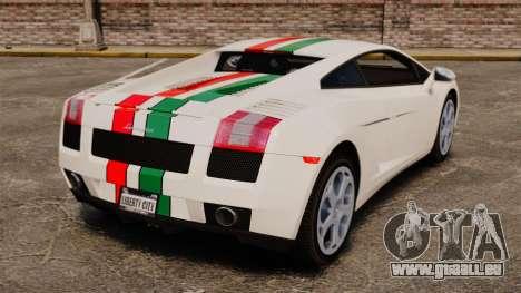 Lamborghini Gallardo 2005 [EPM] Italian pour GTA 4 Vue arrière de la gauche