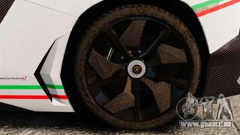 Lamborghini Aventador J 2012 Tricolore für GTA 4 Innenansicht