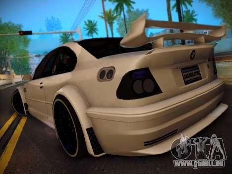 BMW M3 E46 Tuning pour GTA San Andreas laissé vue