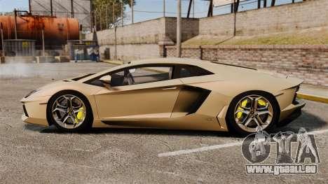 Lamborghini Aventador LP700-4 2012 v2.0 pour GTA 4 est une gauche