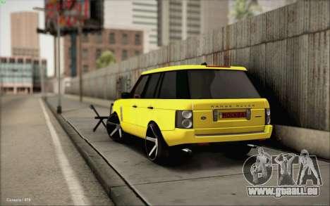 Land Rover Range Rover Gold Vossen pour GTA San Andreas laissé vue