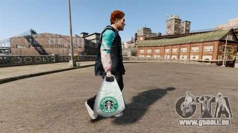 Les paquets de logo de Starbucks Coffee pour GTA 4