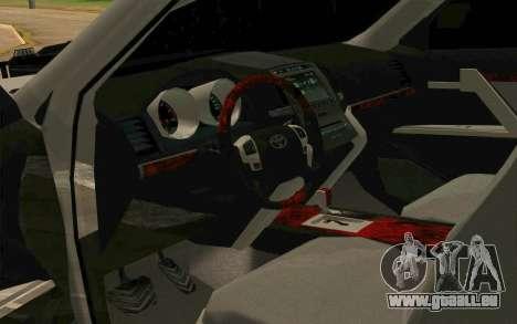 Toyota Land Cruiser 200 pour GTA San Andreas vue de côté