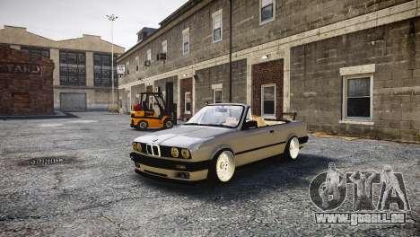BMW M3 E30 Cabrio Stanced pour GTA 4
