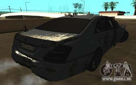 Mercedes-Benz S65 AMG W221 pour GTA San Andreas moteur