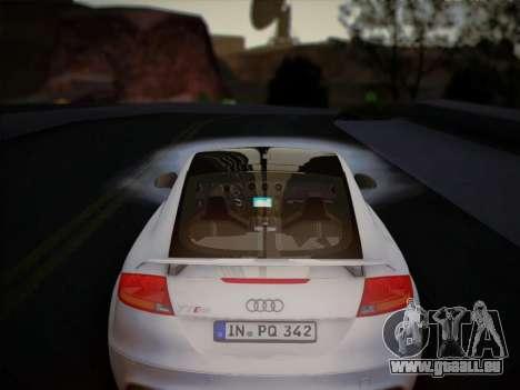 Audi TT RS 2013 pour GTA San Andreas vue intérieure