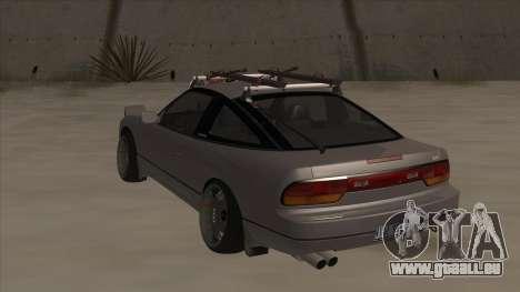 Nissan 240SX Rat für GTA San Andreas Rückansicht