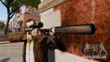 Fusil de sniper AW L115A1 avec un v10 de silenci pour GTA 4 troisième écran