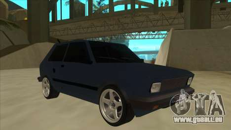 Zastava Yugo 1.1 pour GTA San Andreas laissé vue
