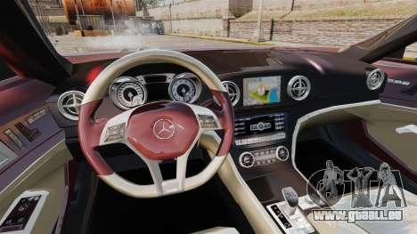 Mercedes-Benz SL500 2013 pour GTA 4 est une vue de l'intérieur