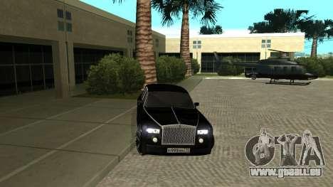 Rolls-Royce Phantom pour GTA San Andreas laissé vue