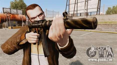 MP5SD mitraillette v7 pour GTA 4 troisième écran