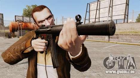 MP5SD mitraillette v5 pour GTA 4 troisième écran