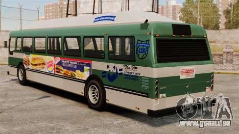 Die neue Werbung auf dem bus für GTA 4 linke Ansicht