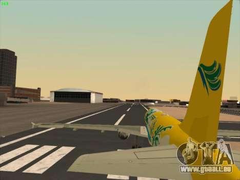 Airbus A320-211 Cebu Pacific Airlines pour GTA San Andreas vue de dessous