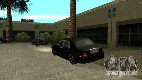 Rolls-Royce Phantom pour GTA San Andreas sur la vue arrière gauche