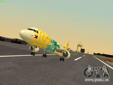 Airbus A320-211 Cebu Pacific Airlines für GTA San Andreas Rückansicht