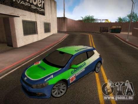 Volkswagen Scirocco pour GTA San Andreas vue de dessus