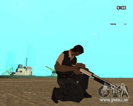 White Chrome Shotgun pour GTA San Andreas troisième écran