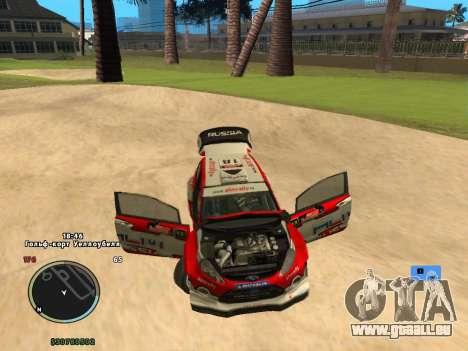 Ford Fiesta RS WRC pour GTA San Andreas vue arrière