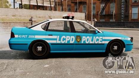 LCPD Police Patrol für GTA 4 linke Ansicht