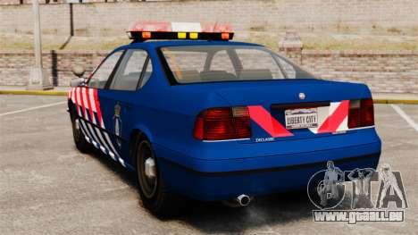 La police militaire néerlandaise pour GTA 4 Vue arrière de la gauche