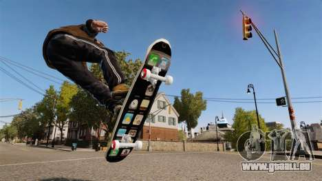 Skateboard-iPhone für GTA 4 linke Ansicht