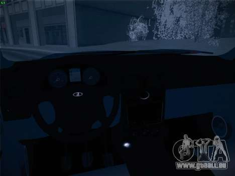 VAZ-2170 pour GTA San Andreas vue de dessus