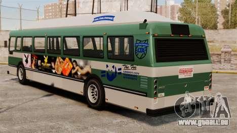 Die neue Werbung auf dem bus für GTA 4 rechte Ansicht