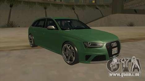 Audi RS4 Avant B8 2013 V2.0 pour GTA San Andreas vue arrière