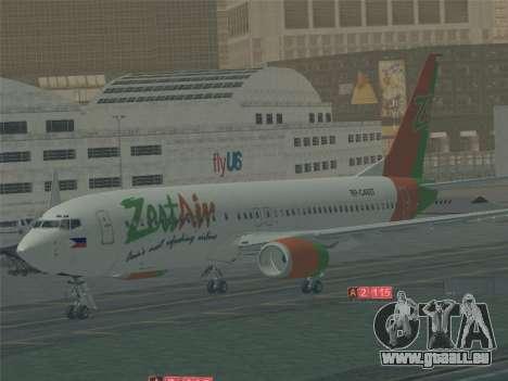 Boeing 737-800 Zest Air pour GTA San Andreas moteur