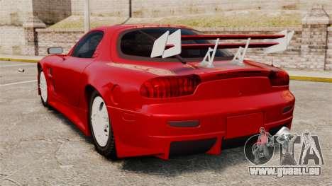 Mazda RX-7 pour GTA 4 Vue arrière de la gauche