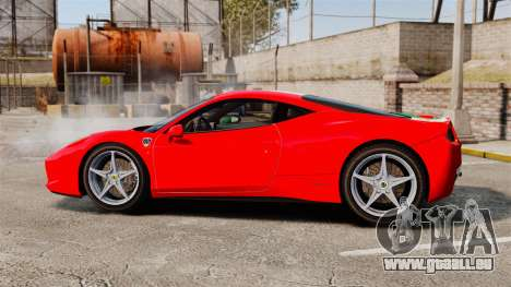 Ferrari 458 Italia 2010 Italian für GTA 4 linke Ansicht