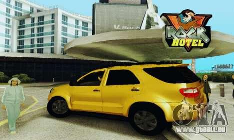 Toyota Fortuner Original 2013 pour GTA San Andreas laissé vue