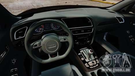 Audi RS4 Avant 2013 Sport v2.0 pour GTA 4 est une vue de l'intérieur