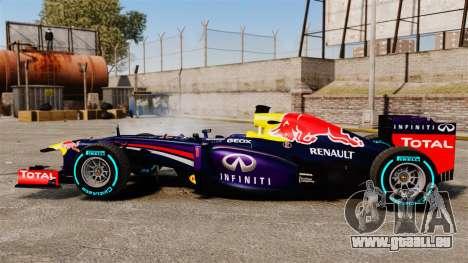 Auto, Red Bull RB9 v1 für GTA 4 linke Ansicht