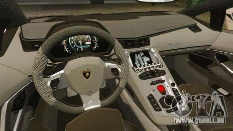 Lamborghini Aventador LP700-4 2012 v2.0 pour GTA 4 est une vue de l'intérieur