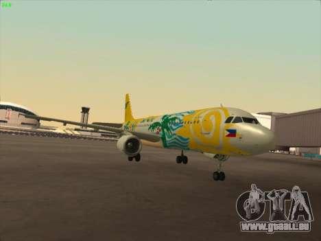 Airbus A320-211 Cebu Pacific Airlines für GTA San Andreas linke Ansicht