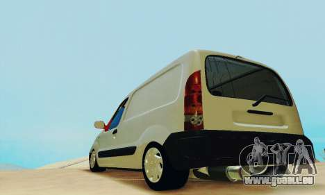 Renault Kangoo für GTA San Andreas zurück linke Ansicht