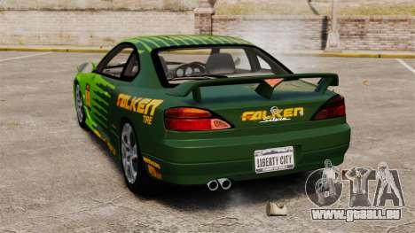 Nissan Silvia S15 v3 pour GTA 4 Vue arrière de la gauche