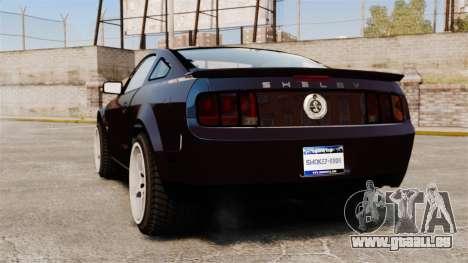 Ford Mustang Shelby GT500KR 2008 für GTA 4 hinten links Ansicht