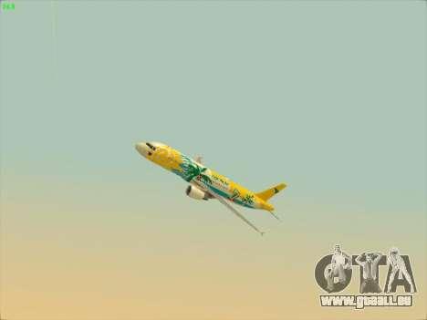 Airbus A320-211 Cebu Pacific Airlines für GTA San Andreas Seitenansicht