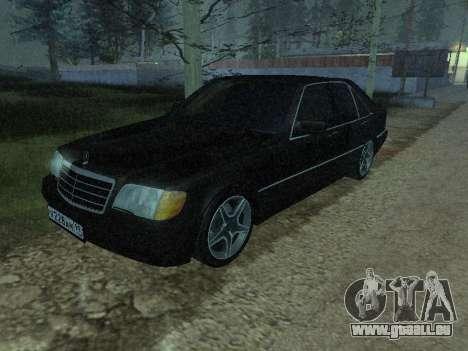 Mercedes-Benz w140 s600 pour GTA San Andreas vue de côté