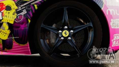 Ferrari 458 Spider Pink Pistol 027 Gumball 3000 pour GTA 4 Vue arrière