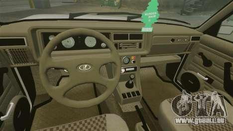 VAZ-2107 pour GTA 4 est une vue de dessous
