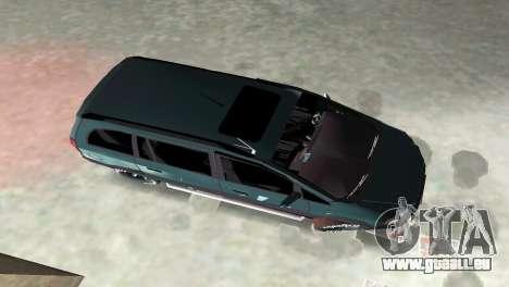 Opel Zafira pour une vue GTA Vice City de l'intérieur